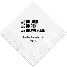 Personalized Foil Printed Paper Napkins - We Do Awesome