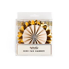 Gold Foil Mini Fan Party Banner