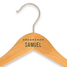 Personalized Wooden Wedding Clothes Hanger- Groomsman