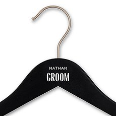 Personalized Wooden Wedding Clothes Hanger- Groom