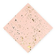 Gold Splash Cocktail Napkins - Small