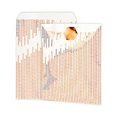 Metallic Copper Dots Paper Treat Bags with Sticker