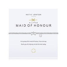 """""""Maid of Honour"""" Silver Bracelet with Bow"""