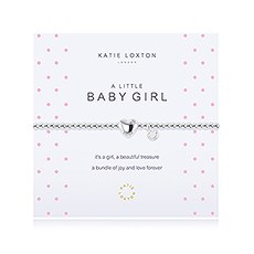 """A Little Baby Girl"" Silver Bracelet with Heart Charm"