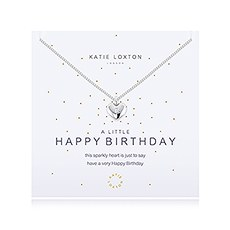 A Little Happy Birthday Silver Necklace