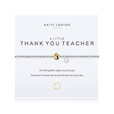 A Little Thank You Teacher Silver Bracelet