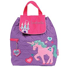 Personalized Quilted Toddler Backpack - Unicorn