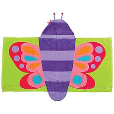 Hooded Towel For Kids - Butterfly
