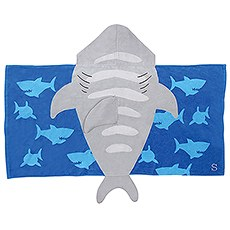 Personalized Hooded Bath Towel for Kids- Shark