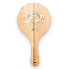 Wooden Hand Mirror - Messy Hair