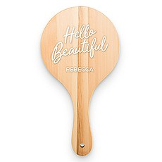 Wooden Hand Mirror - Hello Beautiful