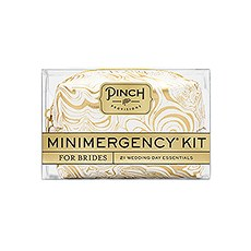 Bride Minimergency Kit - White/Gold Swirl