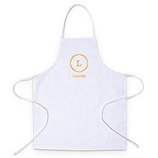 Personalized Kitchen Apron - Circle Monogram