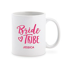 Custom White Ceramic Coffee Mug - Bride Tribe Print