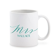 Custom White Ceramic Coffee Mug – Mrs. Print