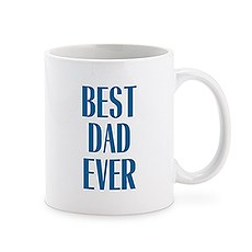 Custom White Ceramic Coffee Mug – Best Dad Ever Print