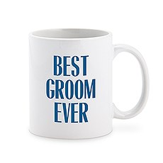 Custom White Ceramic Coffee Mug – Best Groom Ever Print