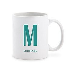 Personalized Coffee Mug - Single Monogram