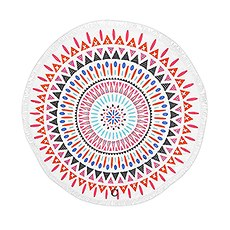 Tribal Print Round Beach Towel - Multi-color