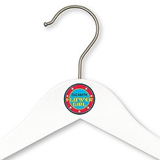 Personalized Wooden Flower Girl Wedding Clothes Hanger- Super Hero