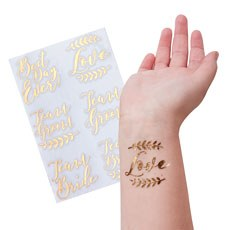 Rose Gold Wedding Temporary Tattoos