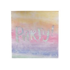 Rainbow Iridescent Party Napkins