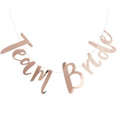 Team Bride Metallic Rose Gold Banner