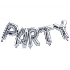 Silver Mylar Foil Letter Balloon Decoration - Party