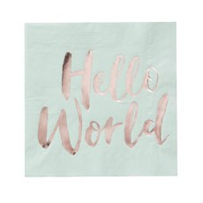 Baby Shower Paper Napkins - Hello World