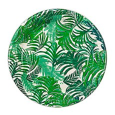 Tropical Leaves Round Paper Plates