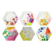 Bright Florals Hexagon Paper Plates