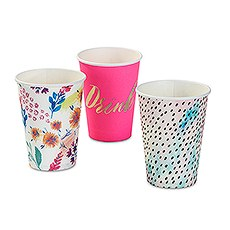 Bright Florals Paper Cups - Large - 12 oz.