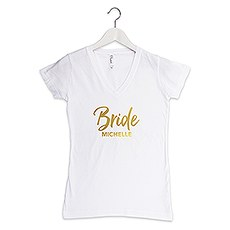 Personalized Bride T-Shirt