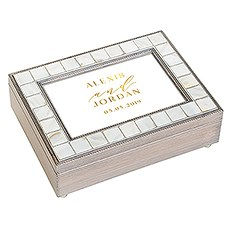 Luxury Pearl Music Box - Modern Couple Foiled Print