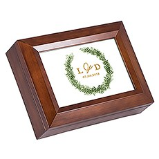 Wooden Music Box - Love Wreath Print