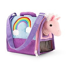 Plush Animal House Carrier - Pink Pegasus