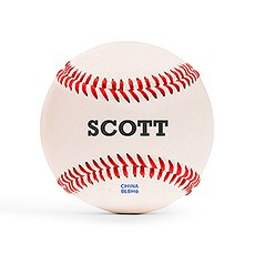 Personalized Printed Baseball Keepsake- Bold Font