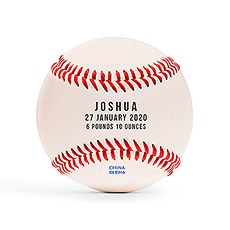 Personalized Baseball Keepsake - Baby Birth Stats