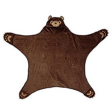 Hooded Kids Blanket - Brown Bear