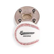 Custom Baseball Bottle Opener Gift - Groomsman