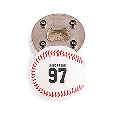 Custom Baseball Bottle Opener Gift - Sports Jersey