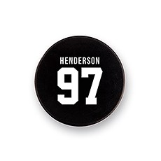 Custom Hockey Puck Bottle Opener Gift - Jersey Back