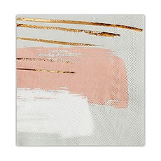 Brush Stroke Paper Cocktail Napkins - Small