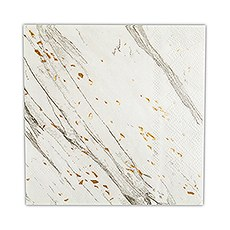 Disposable Wedding Party Paper Napkins - Marble with Gold