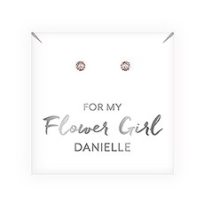 Swarovski Crystal Round Stud Earrings - Flower Girl