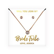 Swarovski Crystal Earring & Solitaire Necklace Set - Bride Tribe