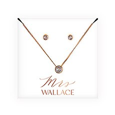 Swarovski Crystal Earring & Solitaire Necklace Set - Mrs.