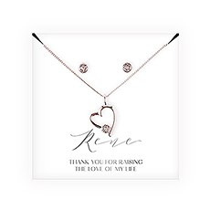 Personalized Bridal Party Heart & Crystal Jewelry Gift Set – Mother-In-Law