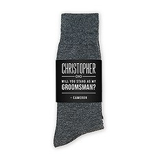 Personalized Men's Socks Wedding Gift - Will You Stand