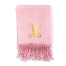 Women's Personalized Initial Pashmina Scarf